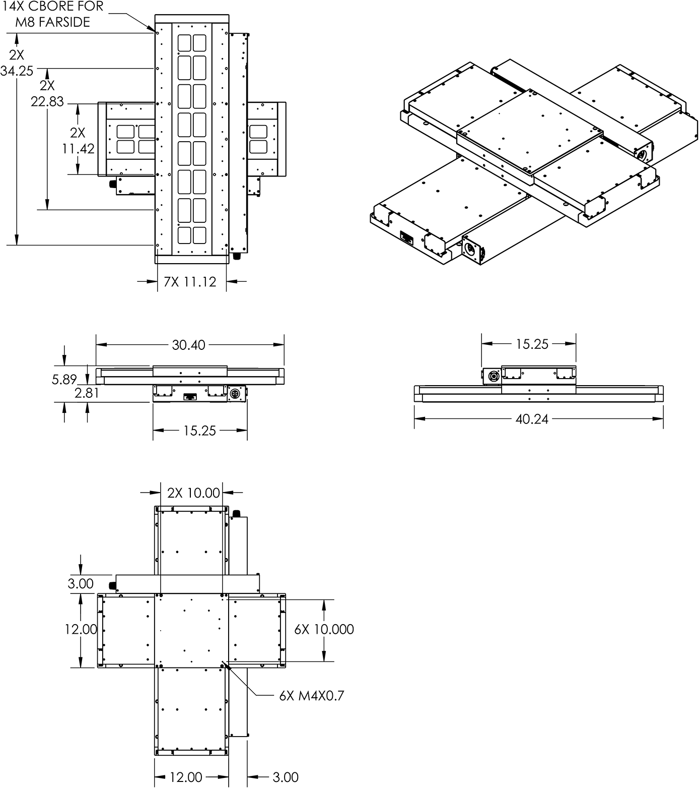 TRS650x400 Stage Dimension Drawings