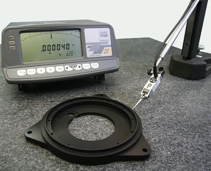 Stage build process using a digital indicator